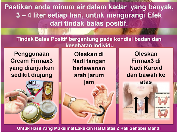 pemakaian Firmax3 Cream Ajaib