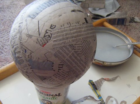 The world of art according to victoria diy paper mache for What to make out of paper mache