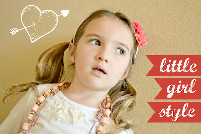Mommy Testers Little Girl Valentine's Day Style Clothes, Baby Gap chiffon heart headband, j.crew crewcuts necklace
