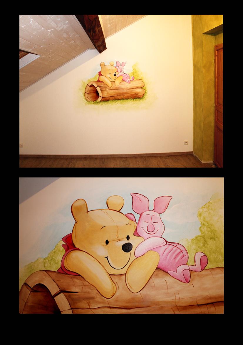 Peintre d coratrice fresque trompe l 39 oeil tableau for Fresque chambre bebe