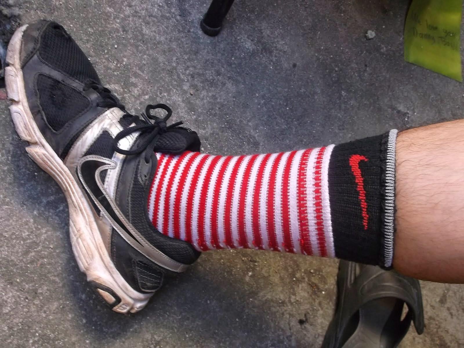 Nice socks E. Haynie