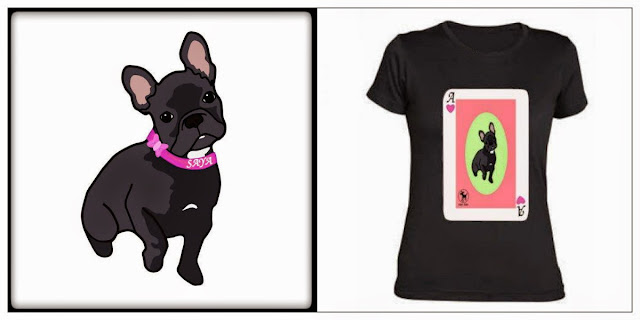 Ilustración y camiseta saya frenchie can can
