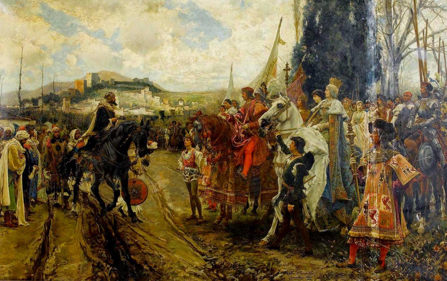 Boabdil entrega las llaves de la ciudad de Granada