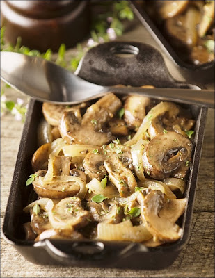Sautéed Mushrooms and Onions in Butter and Wine