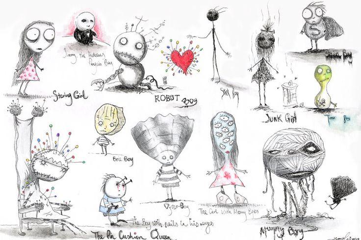 Tim Burton Drawings Easy