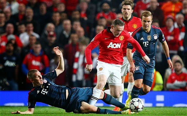 Hasil Pertandingan Leg 2 Bayern Munich vs Manchester United 10 April 2014