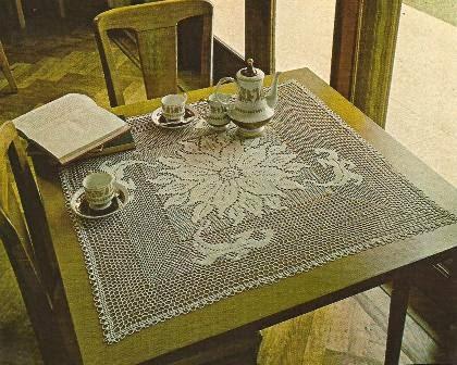 """Tapete cuadrado """"Edelweiss"""" a Crochet"""