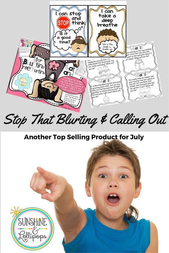 Stop that Blurting and Calling out!
