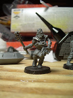 Converted Chaos Cultist with a spiked mace and autopistol