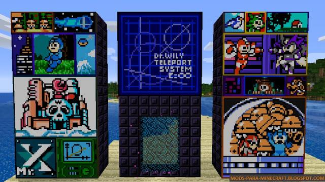 Los diferentes tipos de decoraciones posibles, todas con referencias al  mundo Mega Man
