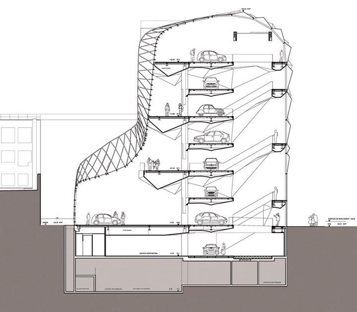 ambassade du design c42 salle d 39 exposition de citroen par manuelle gautrand architecture paris. Black Bedroom Furniture Sets. Home Design Ideas