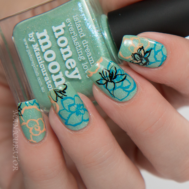 Picture-polish-freehand-flower-nail-art-honeymoon-bonbon-gelato