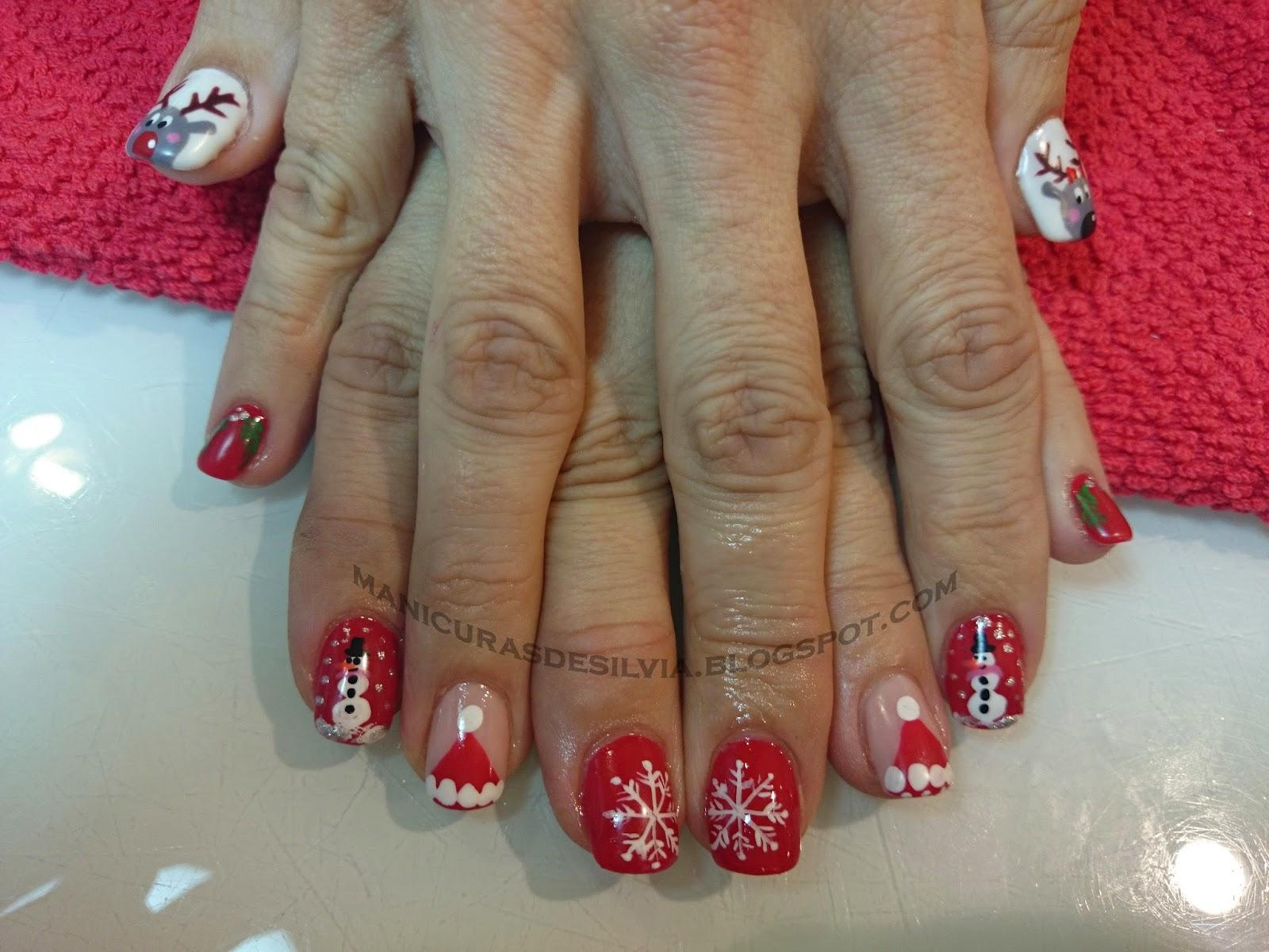 Manicuras de Silvia: Mix navideño (Christmas mix nails)