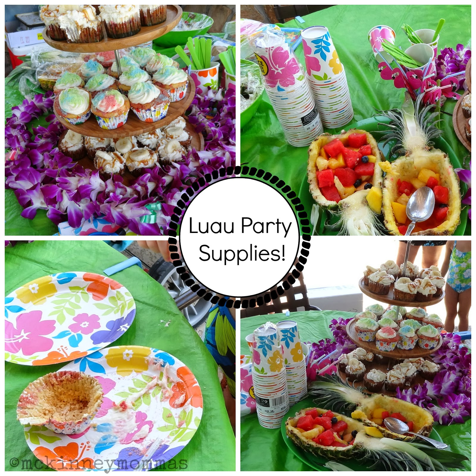 McKinney Mommas: How To Throw A Luau Pool Party + Party Supplies
