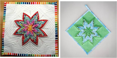 FOLDED QUILT PATTERN - PAISLEY PATTERN FABRIC - FREE PATTERNS