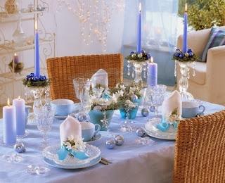 Christmas table decoration Color Blue, Part 2