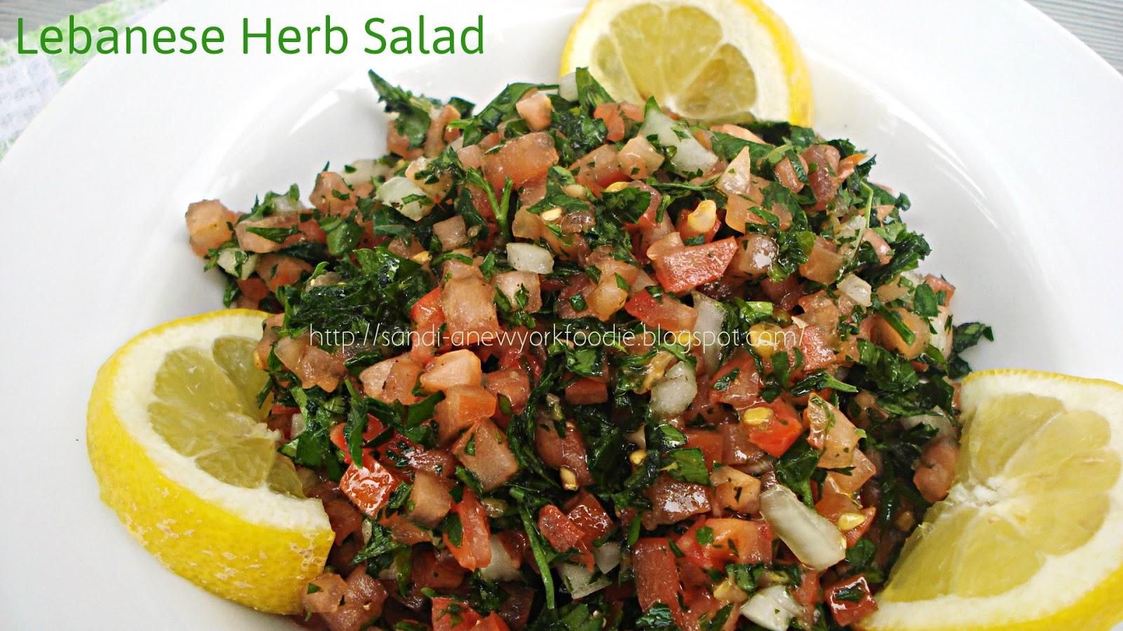 Lebanese Herb Salad - A New York Foodie | A New York Foodie
