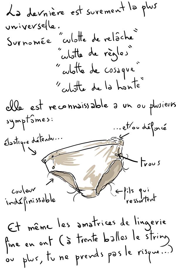 La culotte de relâche, ou l'abandon du style