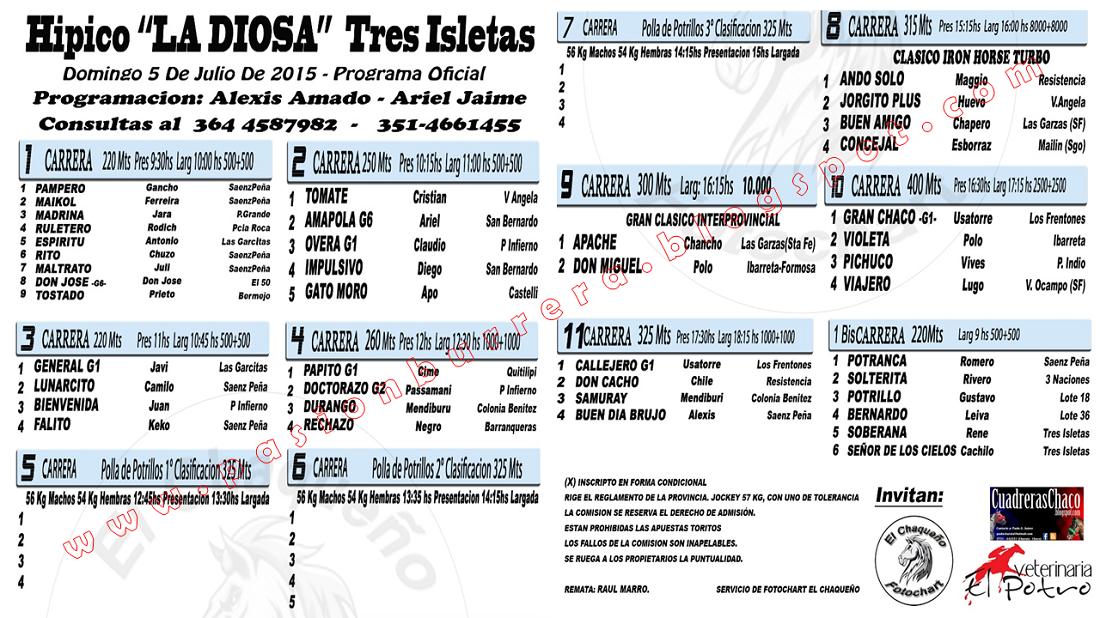 TRES ISLETAS - 5 - PROGRAMA