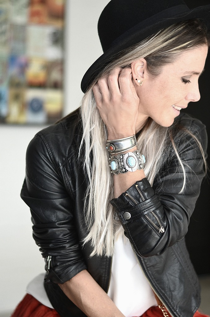 festival outfit fringe hat boho bohemian fashionblogger