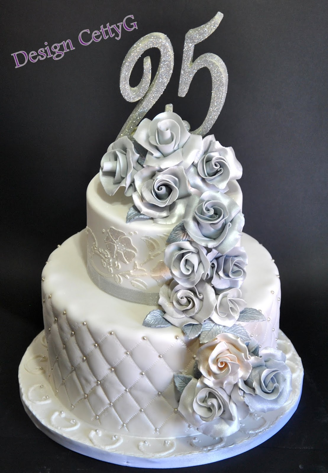 Preferenza Le torte decorate di Cetty G: 25° Anniversario RM77