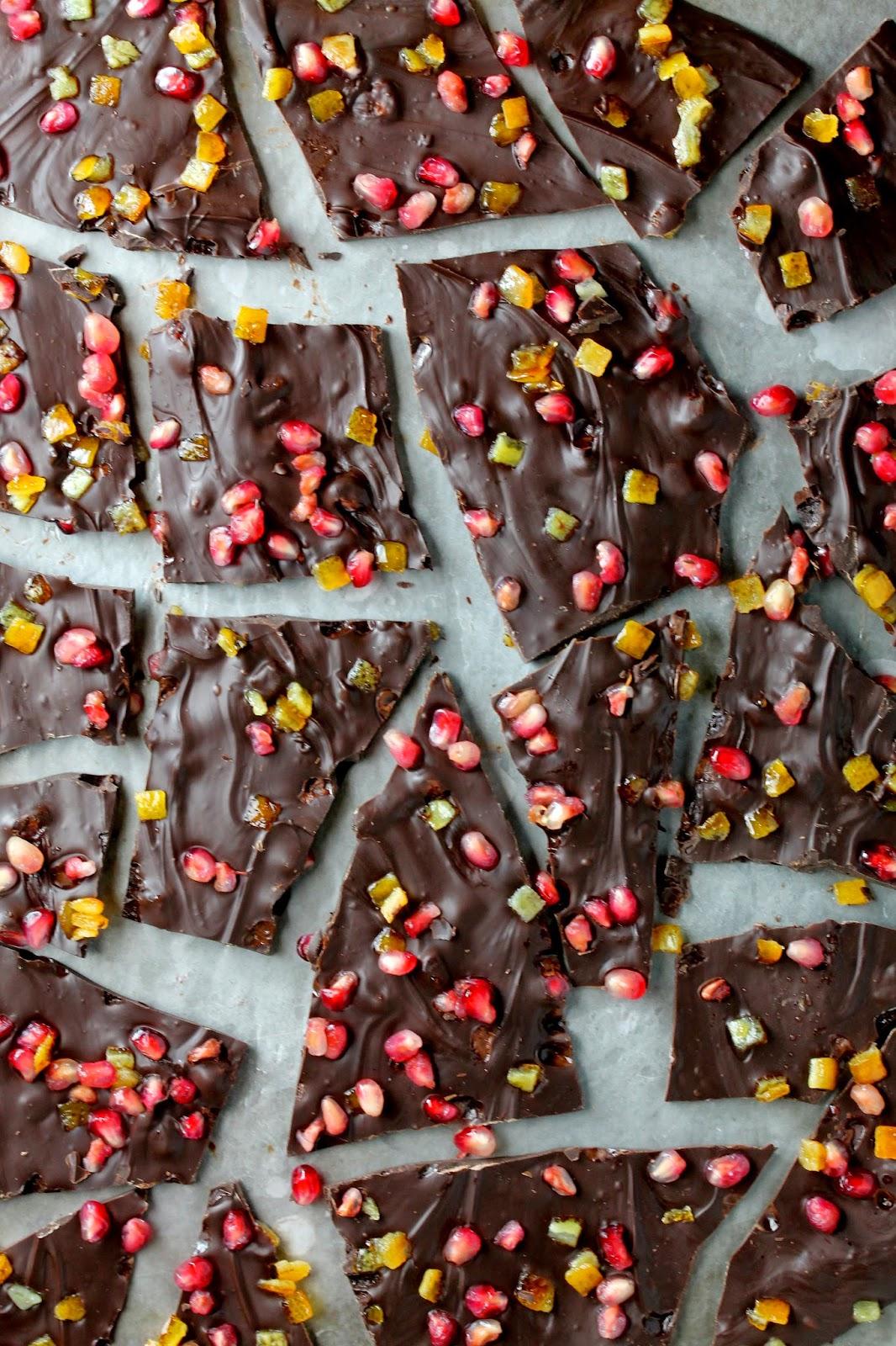 bark chocolate pomegranate ginger chocolate pomegranate ginger ...