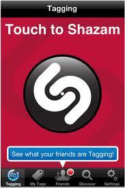 Shazam Red phan mem tim ten bai hat tren Iphone