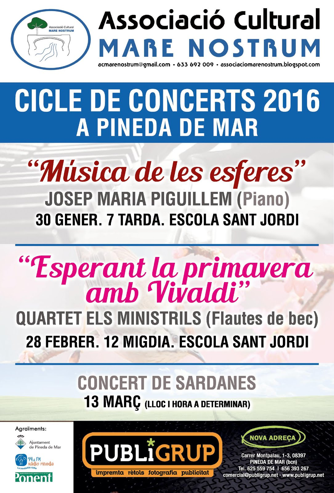 CICLE DE CONCERTS 2016