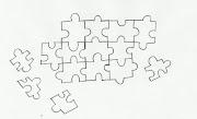 Desenho de jogo de quebra cabeça para colorir