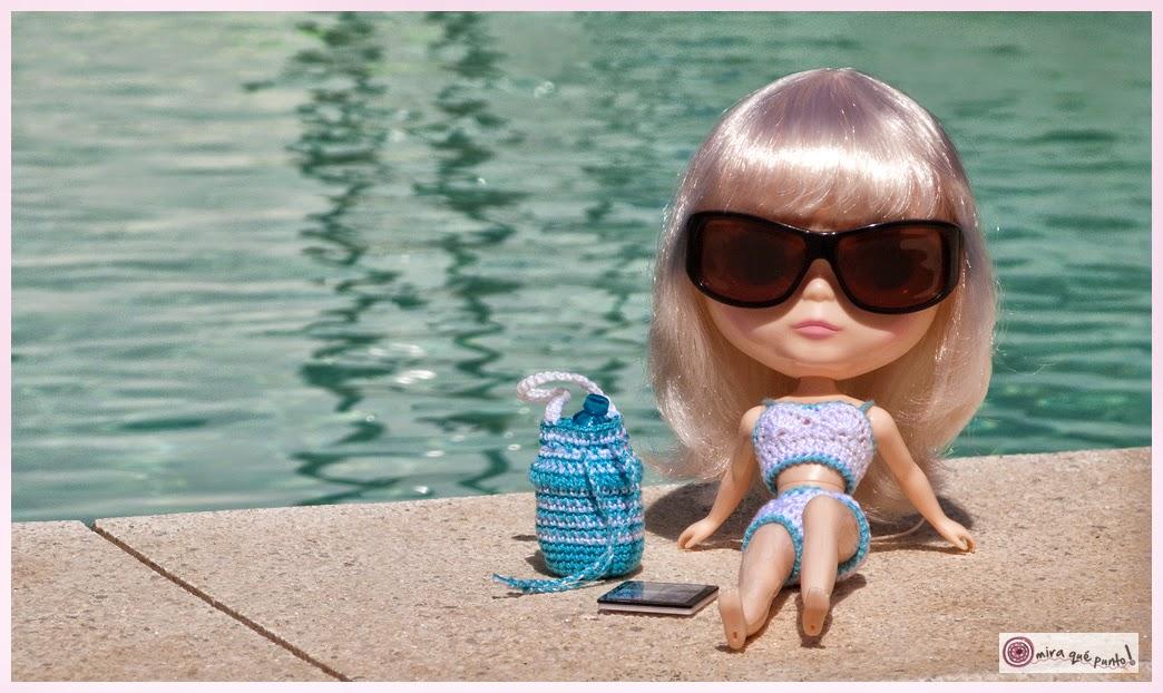 Mira qué punto!: Patrón de bolso de playa para Blythe