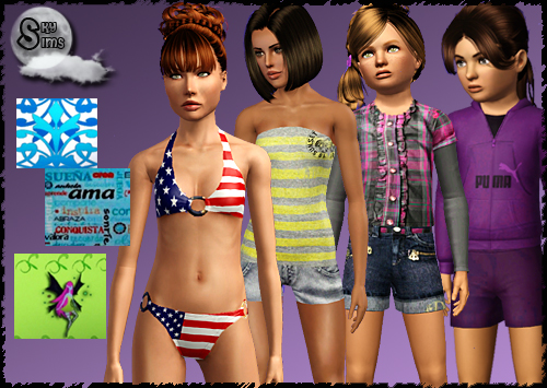 New clothing for adult/teen females, 7 new patterns and updated clothing for ...