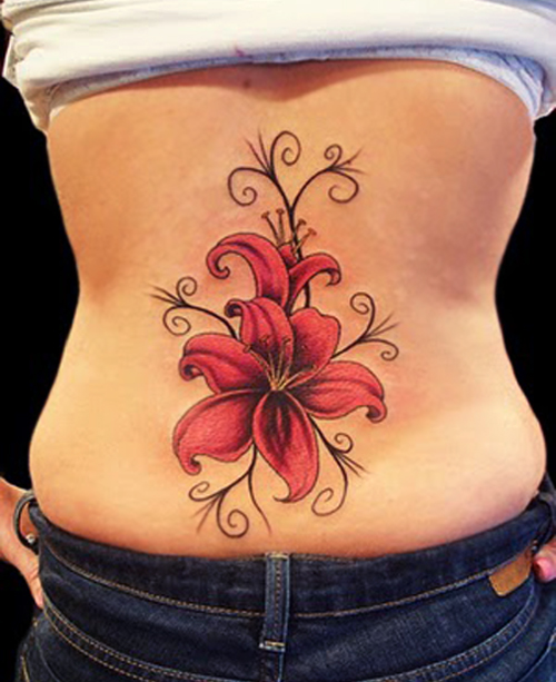 Men Do Not Require Therapists, They Require Other Men Beautiful-Red-Flower-Tattoo-Design