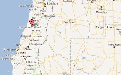 sismo terremoto en chile 25.03.12 epicentro mapa