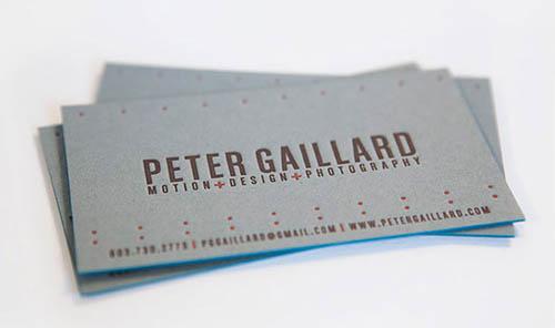 Cartões de visita criativos - Peter Gaillard - Design e Multimédia
