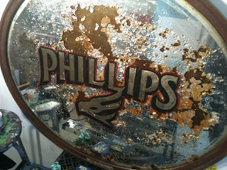 Phillips brewery hand painted mirror dobell signs north America traditional signage