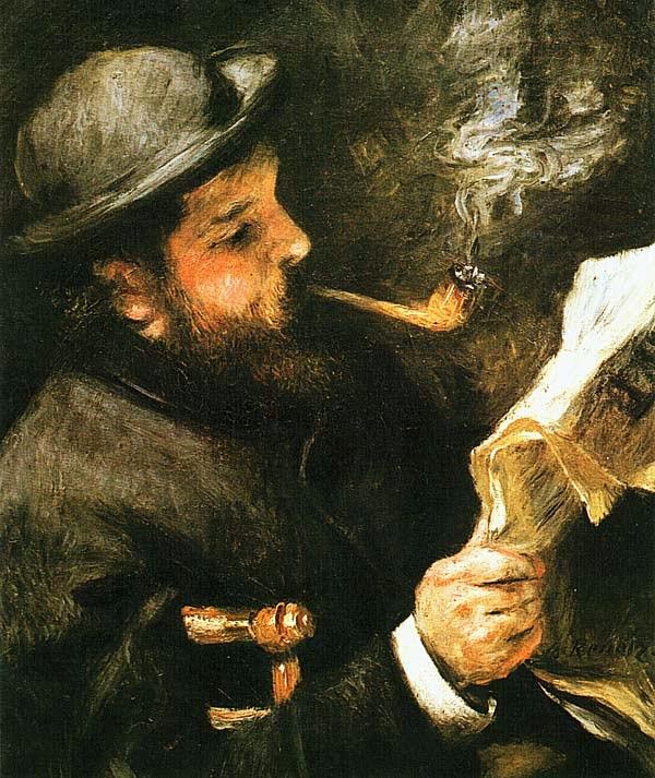 Огюст Ренуар. Моне за чтением. 1872.