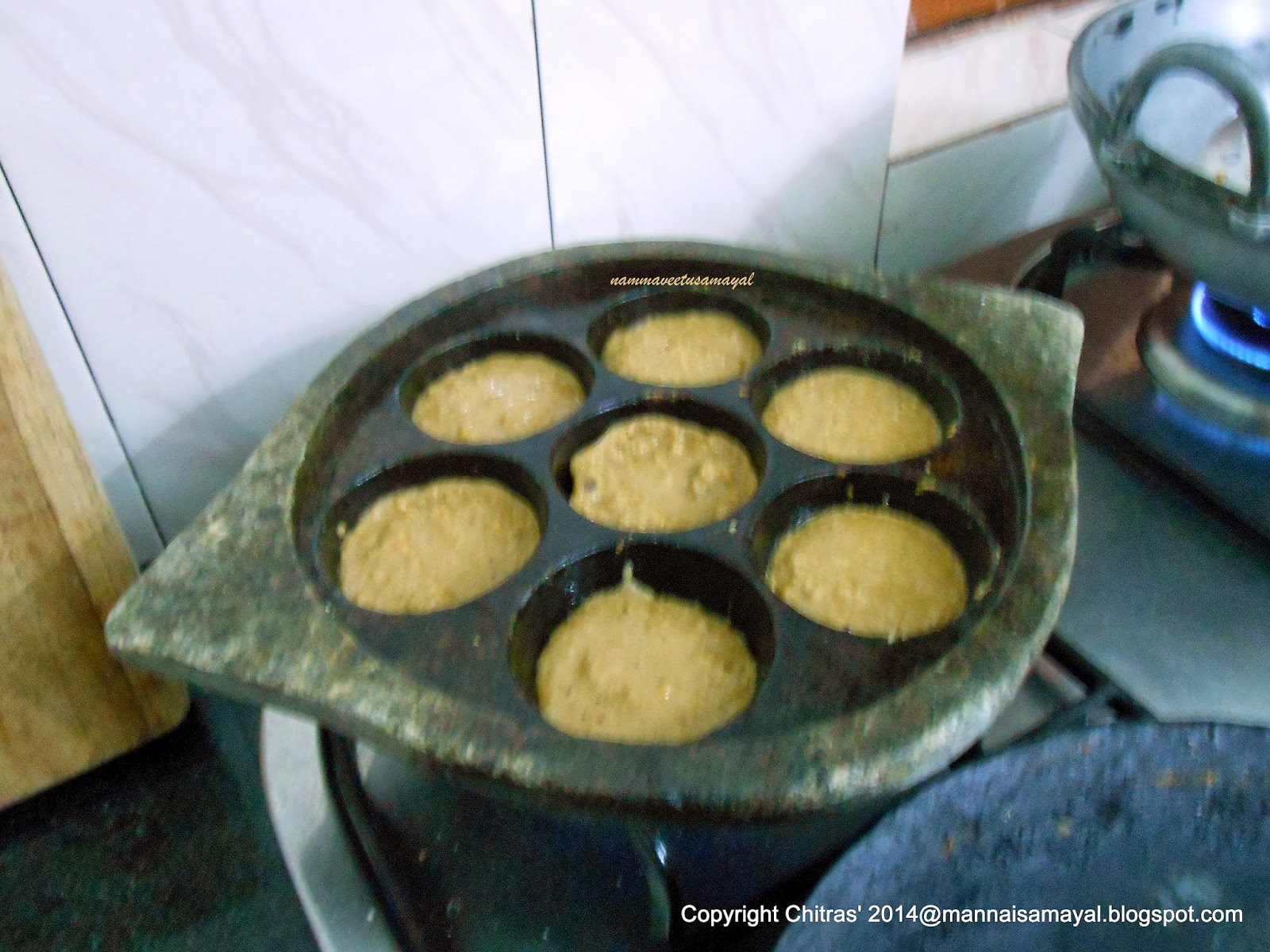 Thinai Inippu Kuzhi Paniyaram [ Foxtail Millet Sweet Paniyaram ]