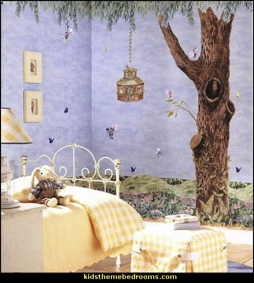 fairy bedroom ideas fairy fantasy theme enchanted forest fairy decorating fairy murals - Ideas For Bedroom Decorating Themes