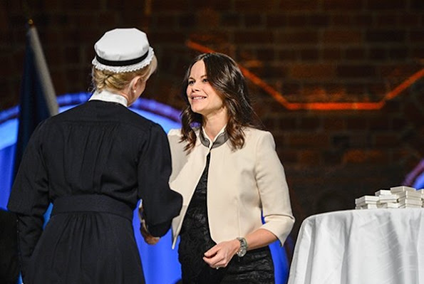 Princess Sofia Hellqvist  of Sweden attended the Sophiahemmet's graduation ceremony and presentation of brooches at Stockholm City Hall in Stockholm