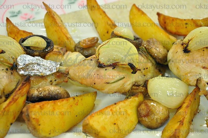 Fırında Baharatlı Tavuk But Tarifi