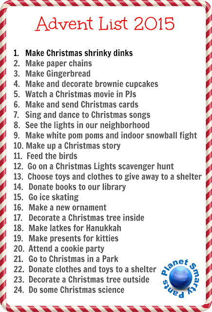 Advent list of activities