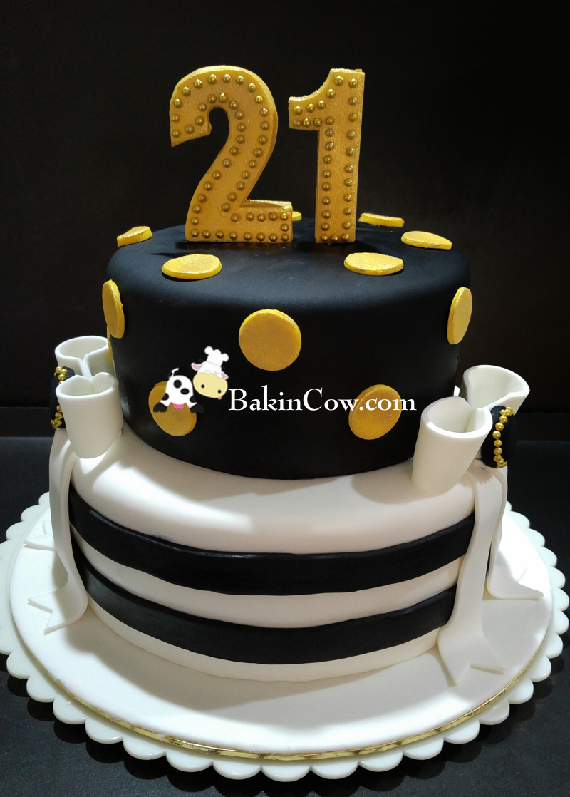 Elegant birthday cake idea image inspiration of cake and for 21st birthday cake decoration