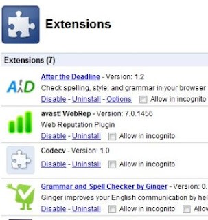 Extensions of Google Chrome in which you can add different add ons