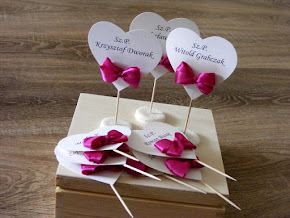 Winietki/etykietki dla gości weselnych