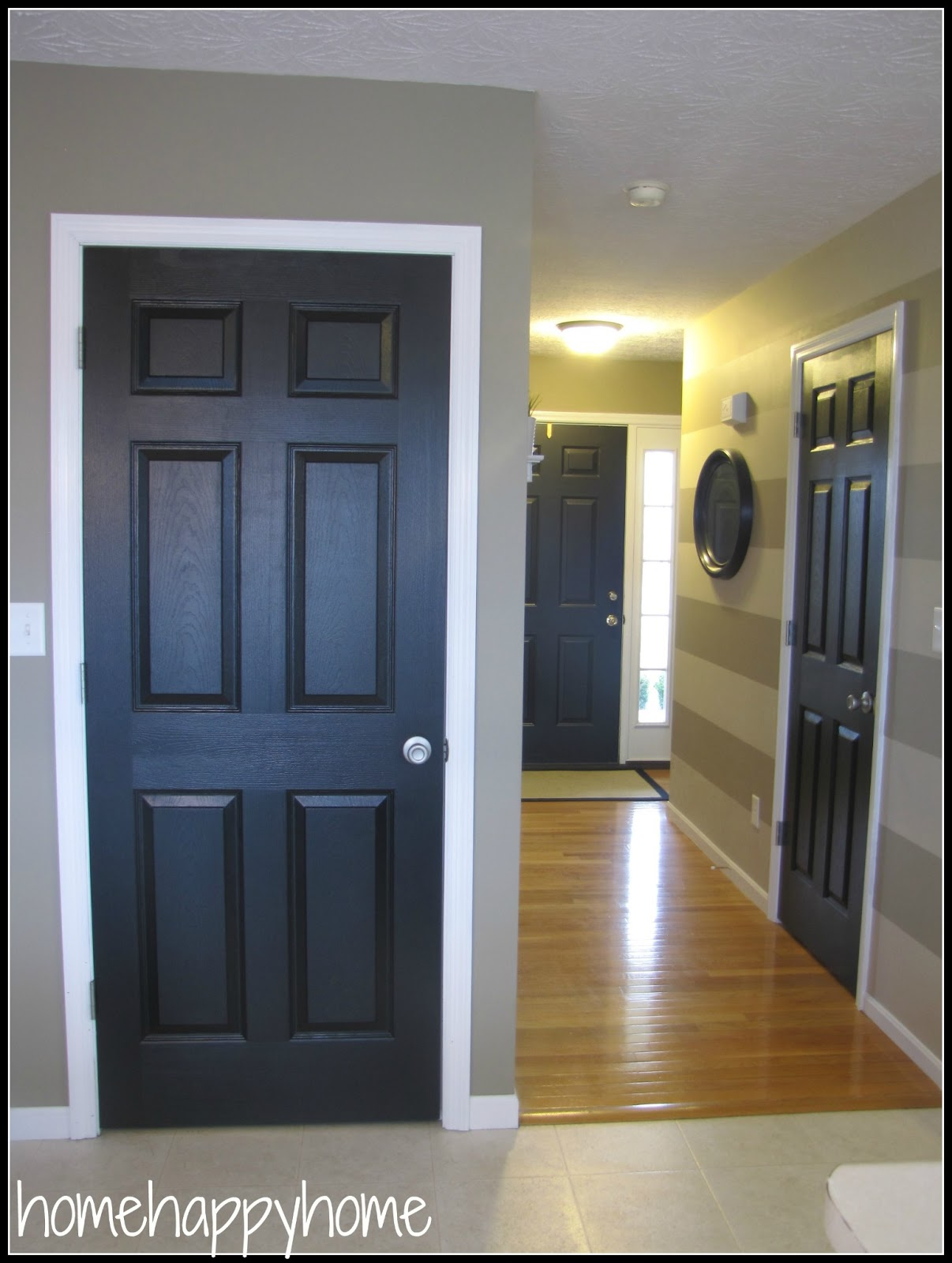 ordinary painting interior doors black design