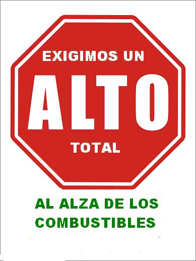 No al alza de combustibles en mexico