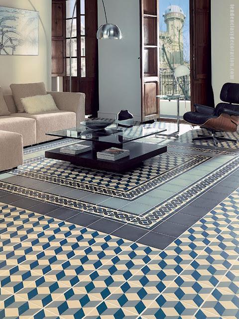 Suelos con mosaicos hidr ulicos una vuelta a lo tradicional for Mosaicos para pisos exteriores