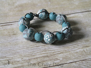 How to make a leather cord and polymer clay bead bracelet.