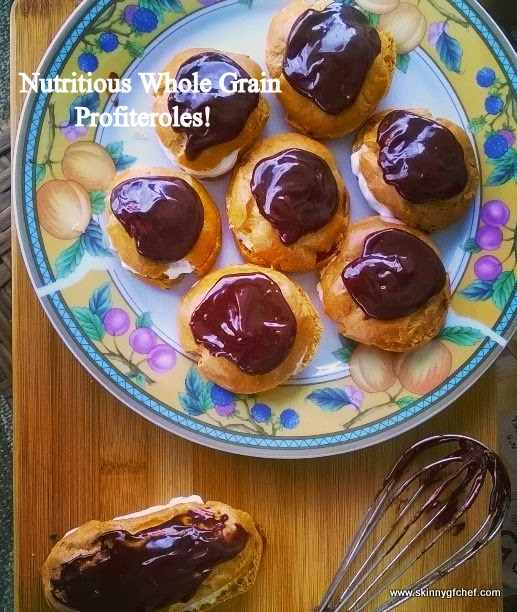 Nutritious Whole-Grain Profiteroles from Skinny GF Chef