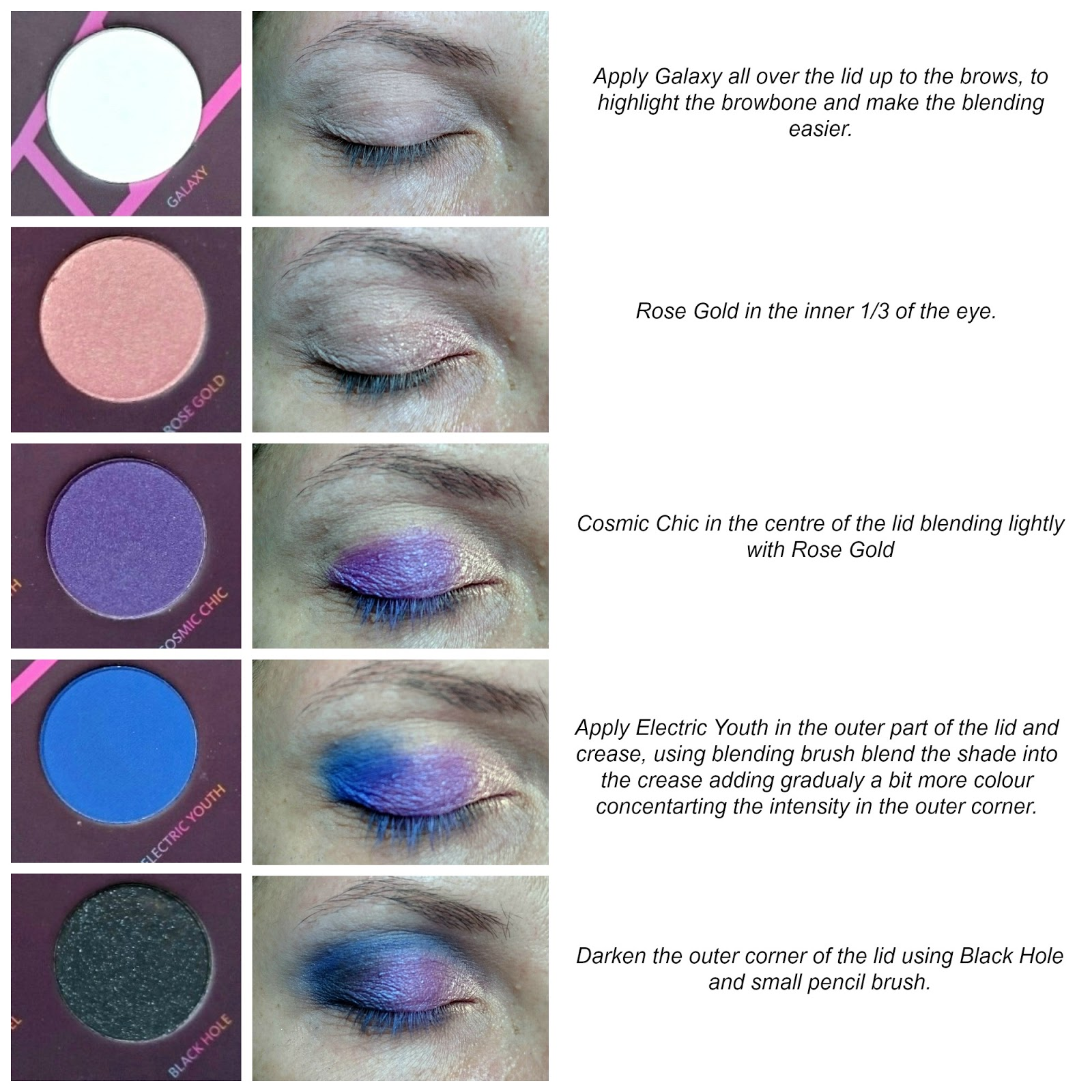 Zoeva Retro Future eye makeup tutorial